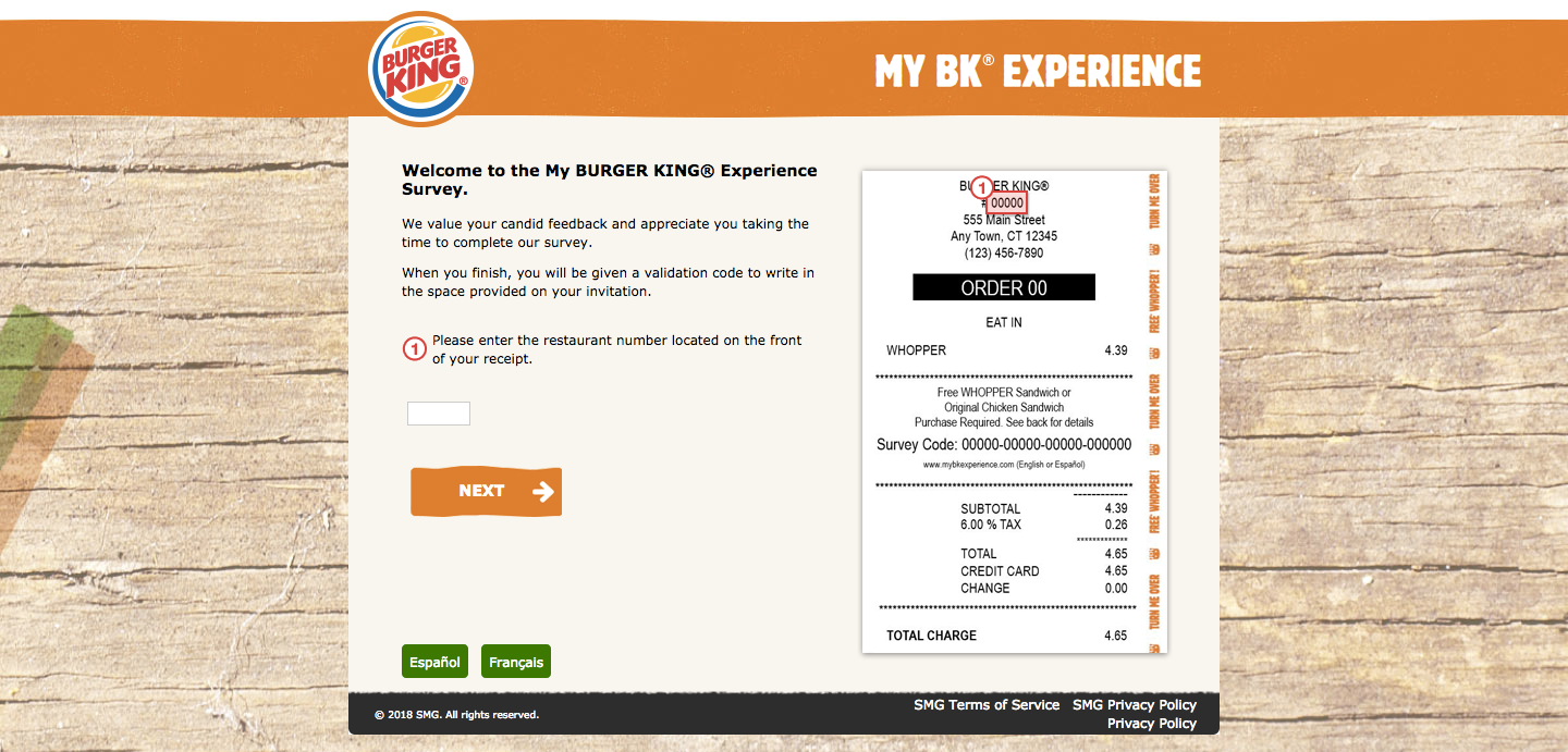 Burger King Customer Experience Survey