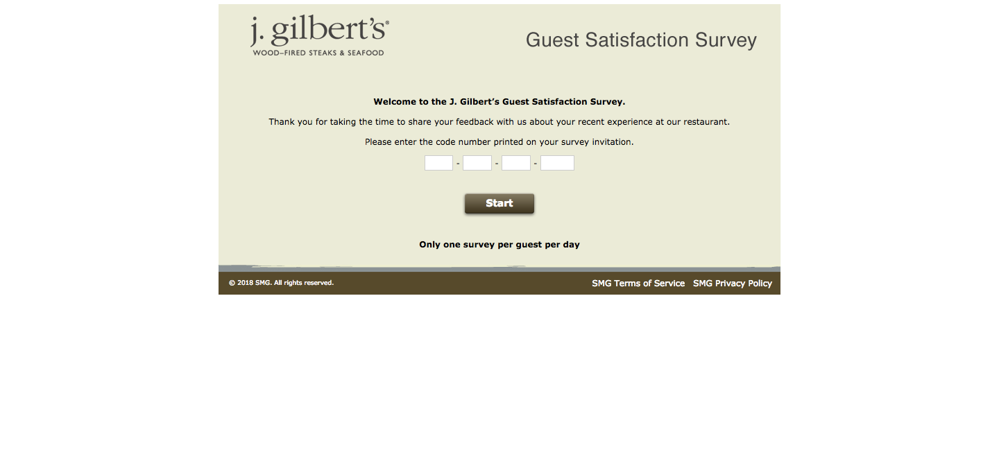 J. Gilbert's Customer Satisfaction Survey