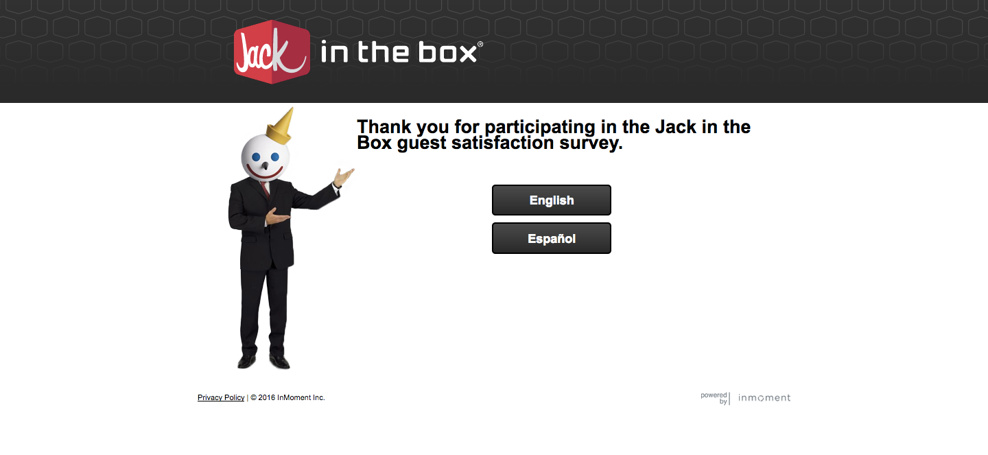Jack In The Box Customer Survey