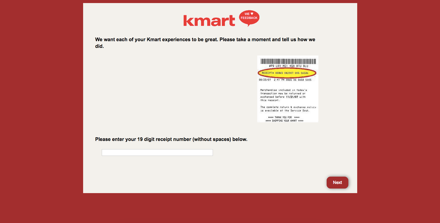 Kmart Customer Survey