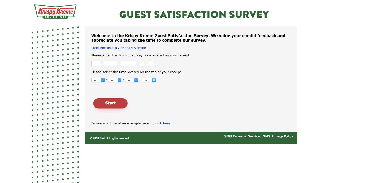 Krispy Kreme Guest Survey