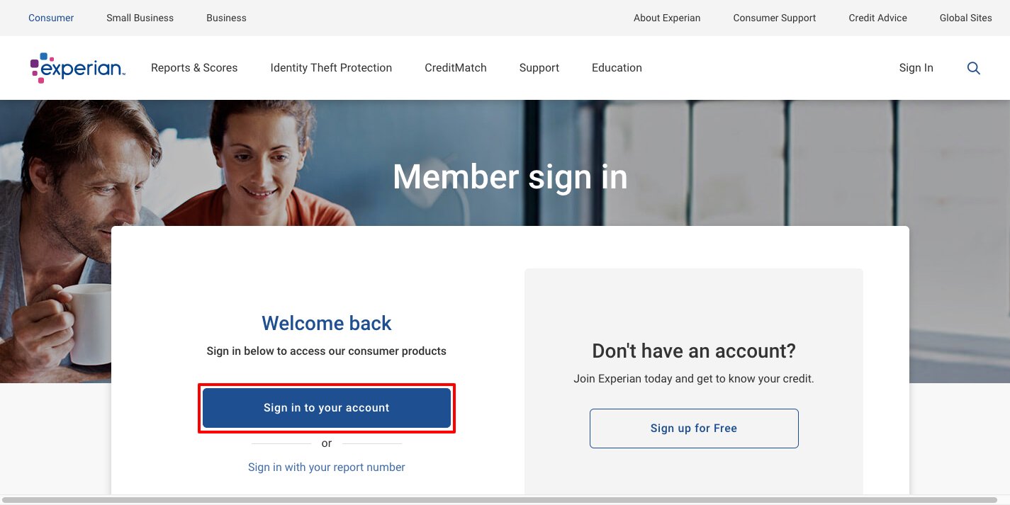 Login to Experian