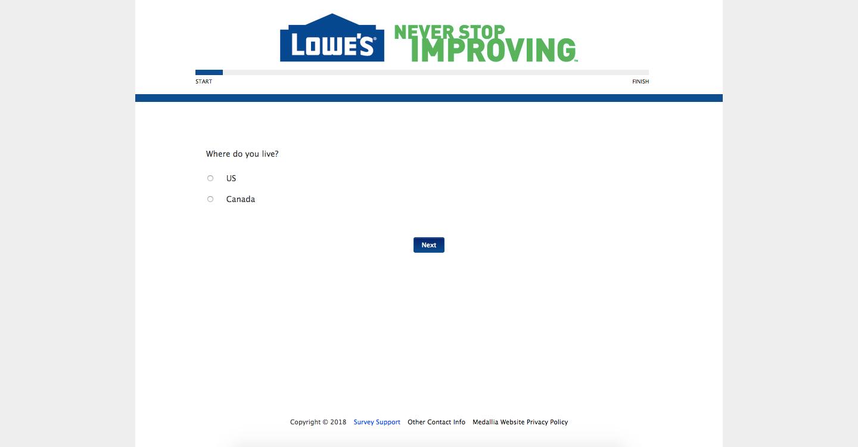 Lowe's Customer Survey