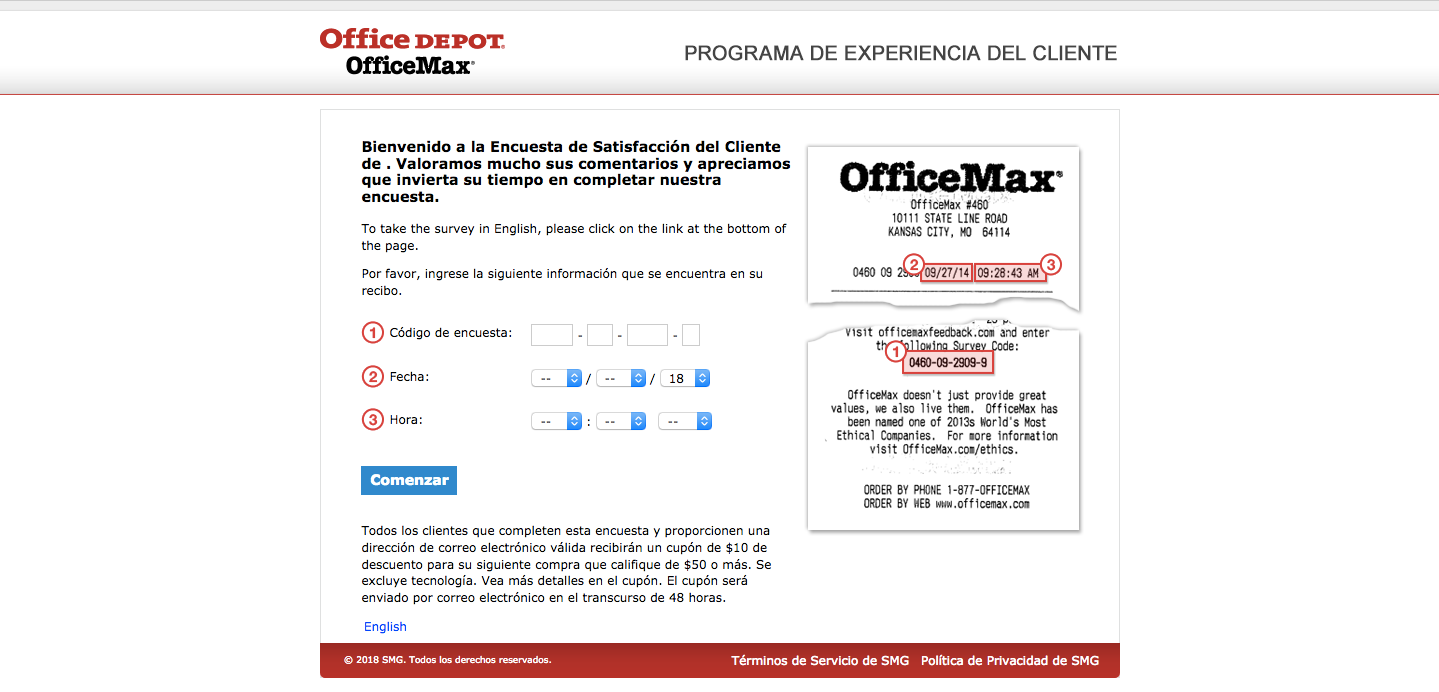 OfficeMax Customer Experience Survey