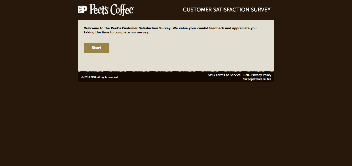 Peet's Coffee & Tea Customer Satisfaction Survey