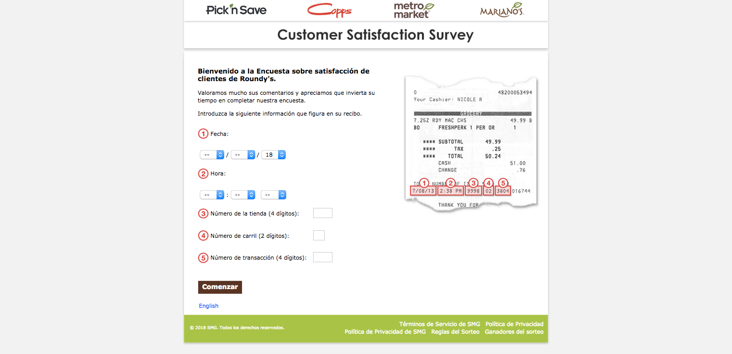 Pick n' Save Customer Experience Survey
