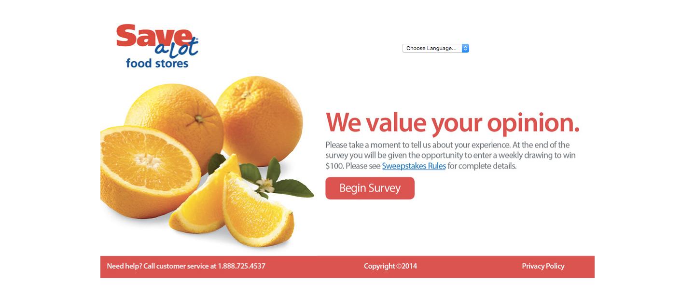 Save-A-Lot Customer Survey
