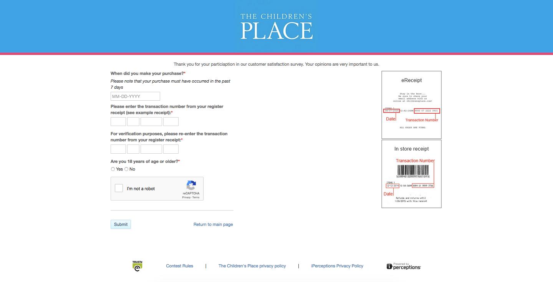 The Children's Place survey