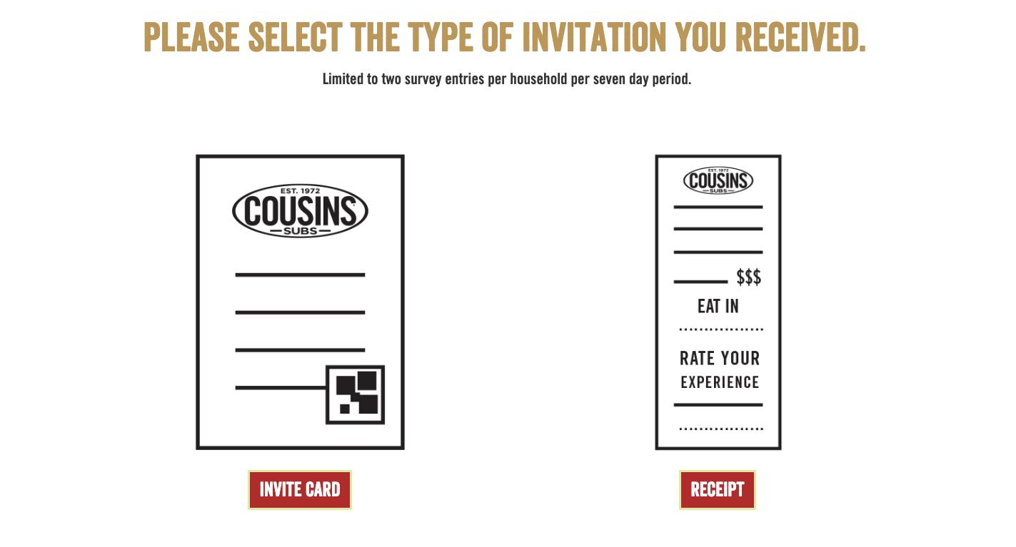 Cousins Subs Survey