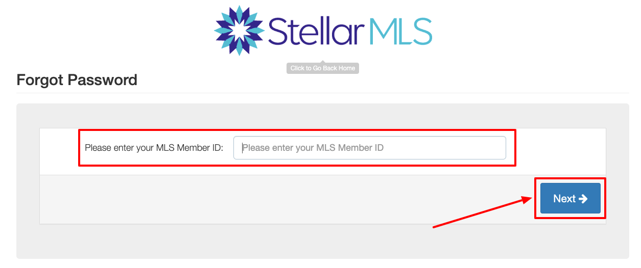 Stellar MLS forgot password