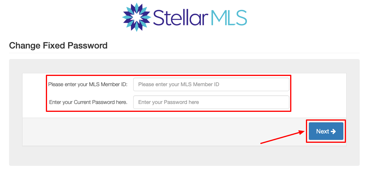 stellar mls need password reset